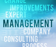 Management im Tag-Cloud Stockbilder