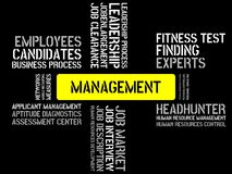 MANAGEMENT - image with words associated with the topic RECRUITING, word, image, illustration Royalty Free Stock Photos