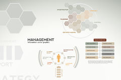 Management infographics - icons, graphs, charts Stock Image