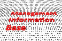 Management information base. In the form of binary code, 3D illustration Royalty Free Stock Photography