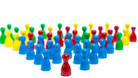 Management - Leadership. Management team is leading the company to success Stock Photography