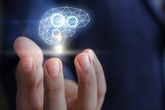 Management mechanism of innovative thinking. Management mechanism of innovative thinking concept design stock photos