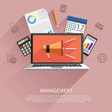 Management objects, business and office items Stock Photo