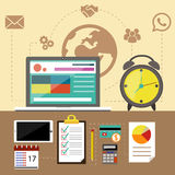 Management objects, business and office items Stock Photography