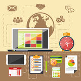 Management objects, business and office items Royalty Free Stock Images