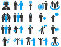 Management and people occupation icon set Stock Image