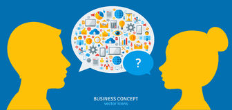 Management Process Concept. Vector Illustration Royalty Free Stock Photos