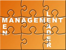 Management Puzzle Stock Images