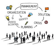 Management Solution Planning Organization Authority Concept.  Stock Photo