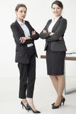 Management staff in black high heels Royalty Free Stock Photography