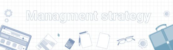 Free Management Strategy Word On Squared Background Horizontal Banner Business Planning Concept Royalty Free Stock Photo - 106319945