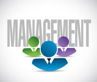 Management team sign illustration design Royalty Free Stock Photo