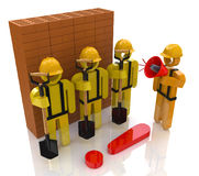 Management team of workers in the construction industry Stock Images