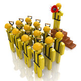 Management team of workers in the construction industry Royalty Free Stock Image