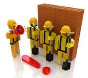 Management team of workers in the construction industry Royalty Free Stock Photography