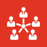 The management and teamwork icon. Team and group, teamwork, people, alliance, management symbol. UI. Web. Logo. Sign Royalty Free Stock Photo