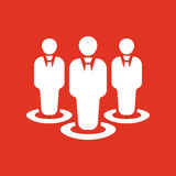 The management and teamwork icon. Team and group, teamwork, people, alliance, management symbol. UI. Web. Logo. Sign Stock Images