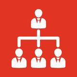 The management and teamwork icon. Team and group, teamwork, people, alliance, management symbol. UI. Web. Logo. Sign Stock Photography