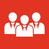 The management and teamwork icon. Team and group, teamwork, people, alliance, management symbol. UI. Web. Logo. Sign Stock Photos