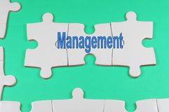 Management Text - Business Concept Stock Photography