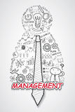 Management text, With creative drawing charts and graphs business success strategy plan idea, Inspiration concept modern design te. Mplate workflow layout Royalty Free Stock Photography