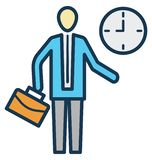 Management, time schedule Isolated Vector Icon can be easily edit and modify stock illustration