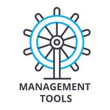 Management tools thin line icon, sign, symbol, illustation, linear concept, vector. Management tools thin line icon, sign, symbol, illustation, linear concept Stock Image