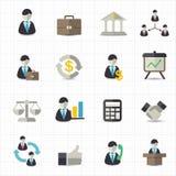 Management- und Geschäftsikonen Lizenzfreie Stockfotografie