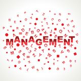 Management word with in alphabets Royalty Free Stock Photos