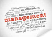 Management word cloud Royalty Free Stock Photography