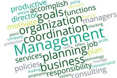 Management word cloud Stock Image