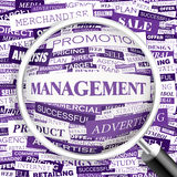 MANAGEMENT. Word cloud illustration. Tag cloud concept collage. Usable for different business design Royalty Free Stock Photo