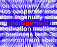 Management Word Showing Business Leadership Logistics And Organi Stock Photos