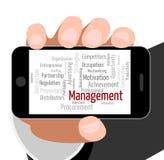 Management-Wort stellt Direktions-Direktoren dar Lizenzfreie Stockbilder