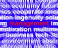 Management-Wort-Vertretungs-Geschäfts-Führung Logistik und Organi Stockfotos