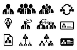 Managementikonen Stockfotos