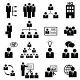 Managementikonenset Stockfoto