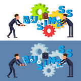 Managementteamwork und -bemühungen vektor abbildung