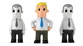 Manager. Funny cartoon character manager on white background Royalty Free Stock Photography
