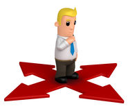 Manager. Funny cartoon character manager on white background Stock Image