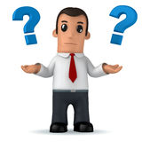 Manager. 3d funny cartoon character manager on white background Royalty Free Stock Photography