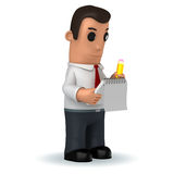 Manager. 3d funny cartoon character manager on white background Royalty Free Stock Photos