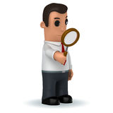 Manager. 3d funny cartoon character manager on white background Stock Photo