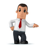 Manager. 3d funny cartoon character manager on white background Stock Photos