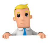 Manager. 3d funny cartoon character manager on white background Royalty Free Stock Image