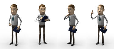 Manager. 3d personage. royalty free stock photos