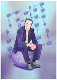 Manager. Conceptual illustration stock illustration