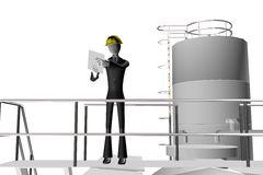 Manager And Engineer On Industrial Site Royalty Free Stock Images