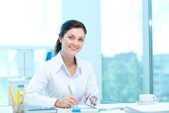 Manager am Arbeitsplatz Lizenzfreies Stockfoto