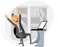 Manager am Arbeitsplatz Stockfoto